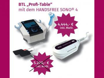 "BTL Therapiecenter ""Profi-Table"" Sonderaktion Q4/2020"